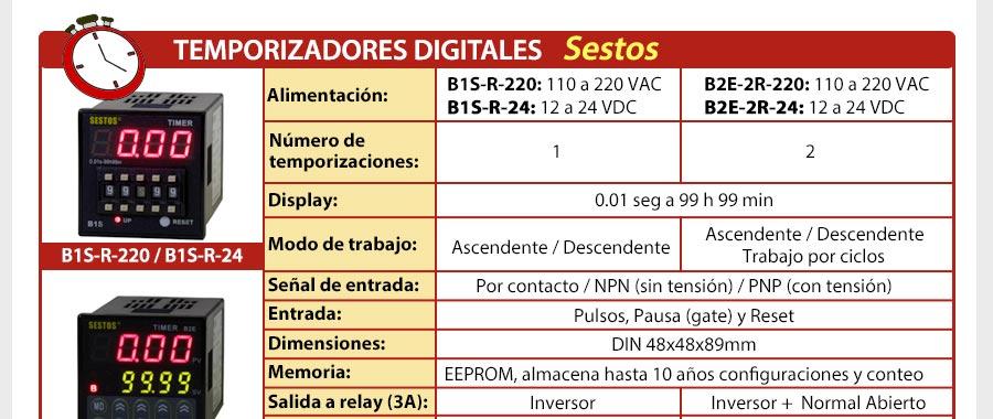 Temporizadores digitales Sestos - Para más información visite nuestra web: www.gmelectronica.com.ar