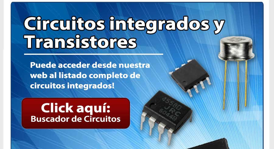 Circuitos integrados en Argentina - Para más información visite www.gmelectronica.com.ar