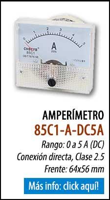Amperímetro analógico 85C1