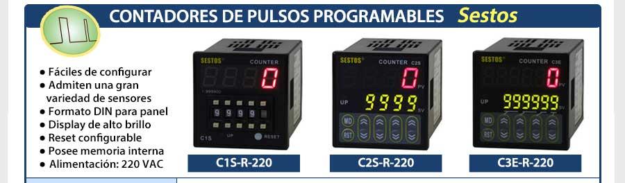 Contadores de pulsos Sestos - Para más información visite nuestra web: www.gmelectronica.com.ar