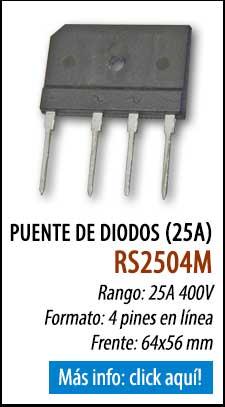 Puente de diodos de 25A